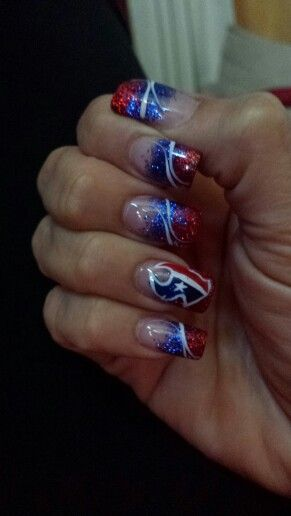Houston Texans nails  ♥ my nail girl