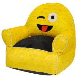 Emoji Pals Soft Faux Fur Kids Sofa Bean Bag Chair