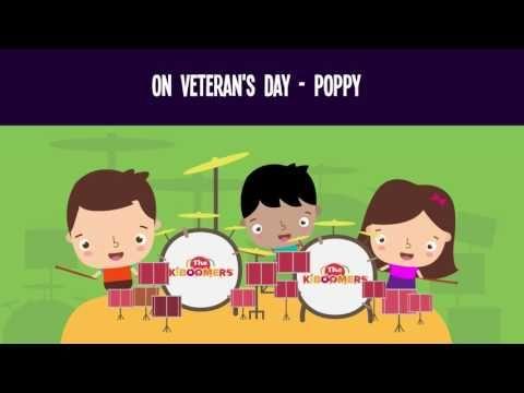 The Poppy Song for Kids | Veterans Day Songs for Children | The Kiboomers - YouTube