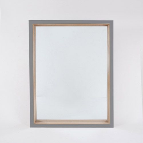 Grey high gloss mirror