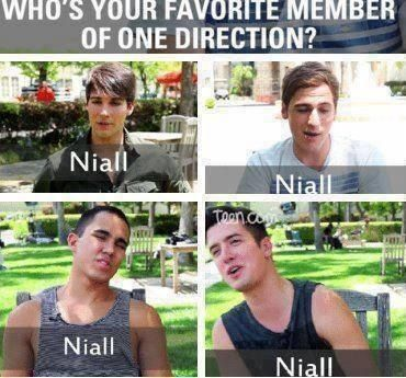 "Haha BTR loves Niall and so do I! But I think that they are all superb!!! The only reason why Niall is ""my favorite"" is because he is my soul mate :) :)"