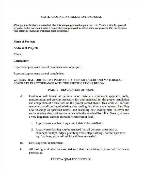 15 Roofing Contract Templates Relevante