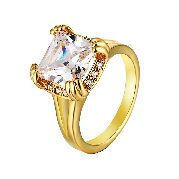 Find More Rings Information about White Simulated Diamond Jewelry Yellow and Rose Gold Plated Rings Womens Jewellery Punk Rock Bijoux Women Bagues 2016 Ulove R107,High Quality diamond jewelry,China rose gold plated ring Suppliers, Cheap gold plated ring from Ulovestore Jewelry on Aliexpress.com
