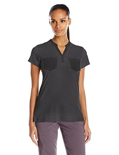 ExOfficio Women's Wanderlux Henley Short Sleeve, Black, Large ** Read more at the image link. #WomensCampingClothing