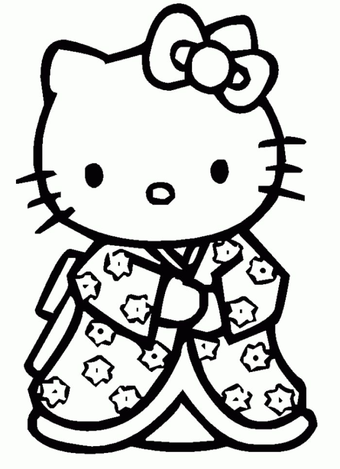Coloriage hello kitty dessins a imprimer pour les moyens coloring pinterest kitty and - Coloriage hello kitty printemps ...