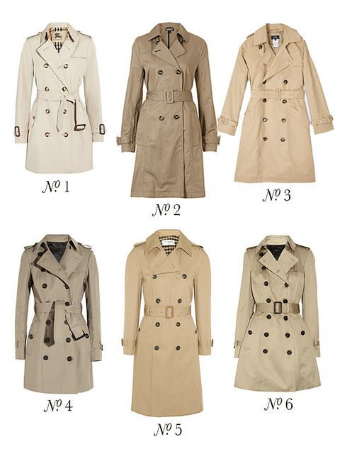 Spring trench coats via This Is Glamorous
