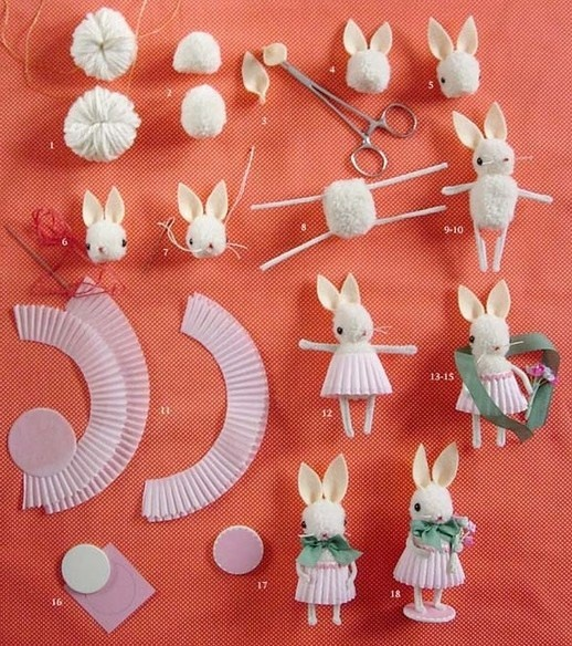 how to: bunny    THIS IS ADORABLE!  MUST GIVE IT A TRY!