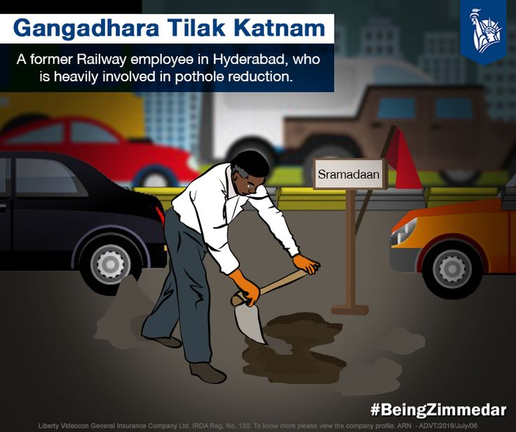 Also known as the Road Doctor in Hyderabad, Gangadhara Tilak Katnam quit his job and took up the initiative of repairing potholes after realising its dangerous after-effects.Taking care of the society at large and preventing further harm made him his city's hero! #BeingZimmedar