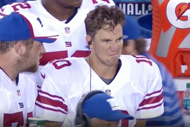 Eli Manning Gives Us Yet Another Wonderful Face to Add to the Pantheon of Eli Manning Faces (Pic + GIF)