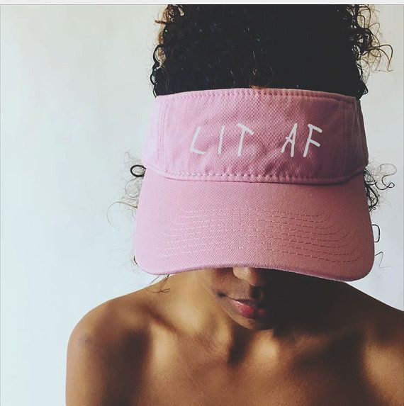 Lit Hat Cap It's Lit Its Lit AF Visor Tumblr Trendy by YELLMART