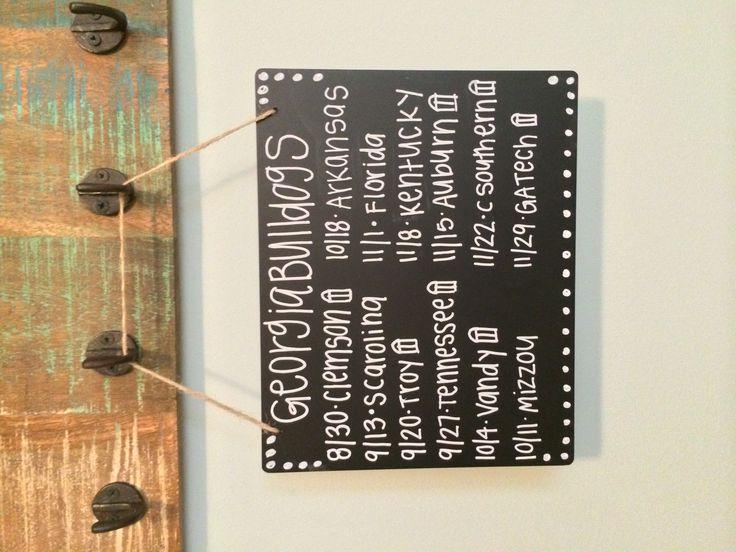 UGA schedule in chalk :) #uga #football #chalkboard