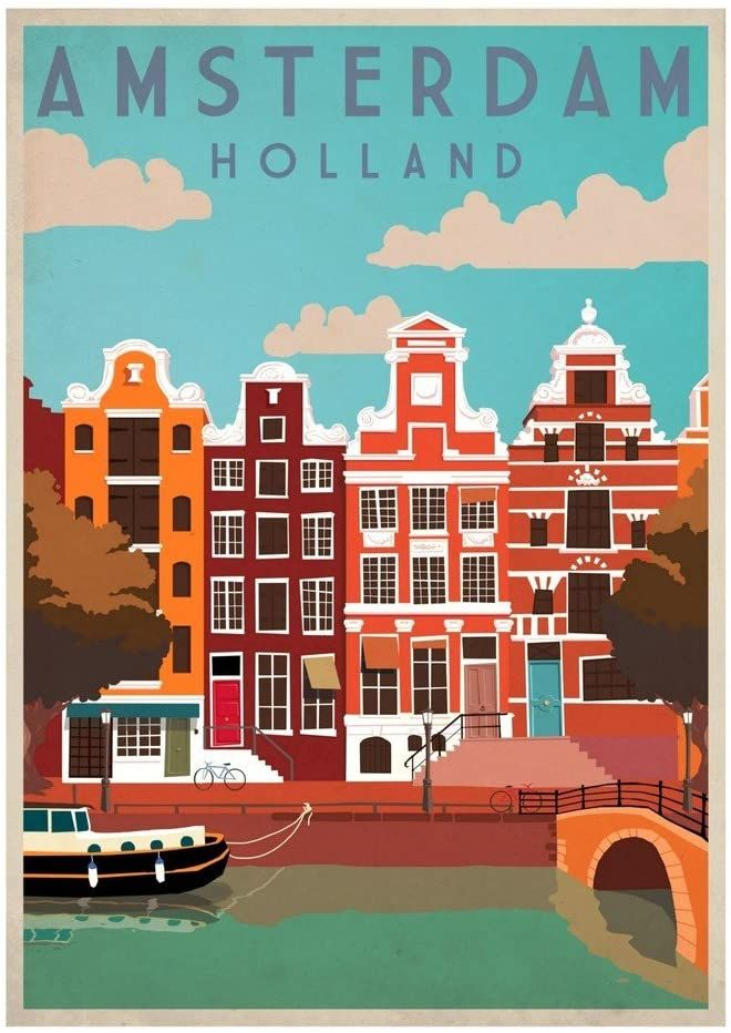 AFRICA VINTAGE Retro TRAVEL Poster Art Print A4 SIZE Glossy Gift
