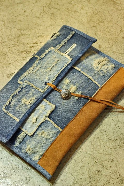 Denim Clutch