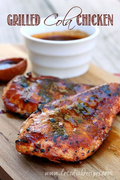 Grilled Cola Chicken | Juicy grilled chicken with a sweet and savory cola barbecue sauce.