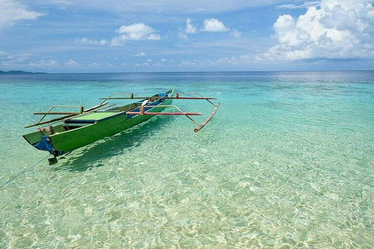 Clear water at remote Pulau Hatta in the Banda Islands, Indonesia.
