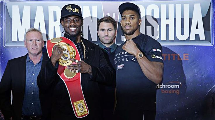 Martin vs Joshua Face Off [embed]https://youtu.be/XThelxrcnGY[/embed]  Joshua was greeted by a cheering crowd as he was the first to take the stage at The O2 and looked in his usual ripped state while tipping the scales at 17st 6lbs. The IBF champion received jeers when he walked onto the tages next to Joshua and weighed in just a pound heavier at 17st 7lbs. Martin vs Joshua Face Off Both men then posed for the customary face-off, with Martin smiling and chewing a tooth pick, before he…