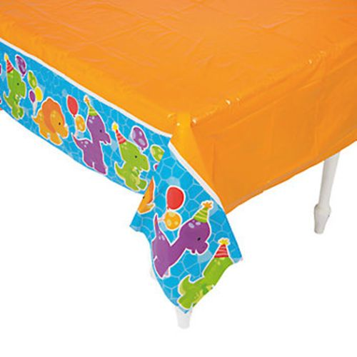DINOSAUR-PARTY-Little-Dino-Plastic-Tablecover-Tablecloth-137cm-x-274cm