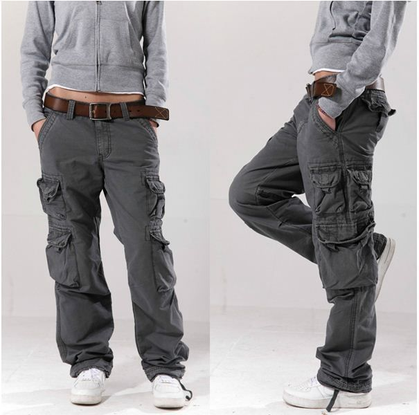 Model Women Army Fatigue Baggy Pants Cargo Pants Sports Wear Mens Camouflage