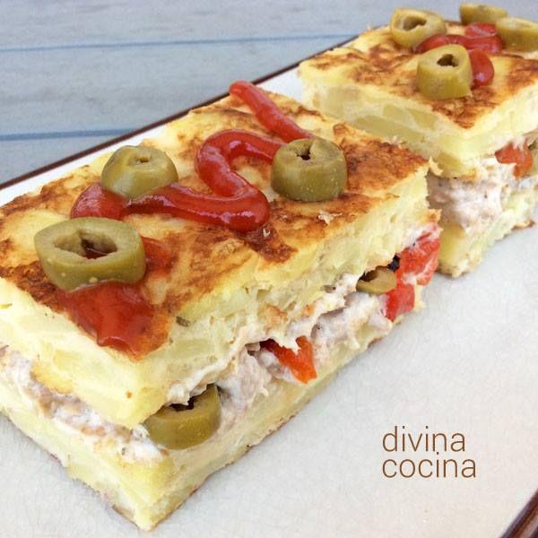 Tortilla rellena < Divina Cocina