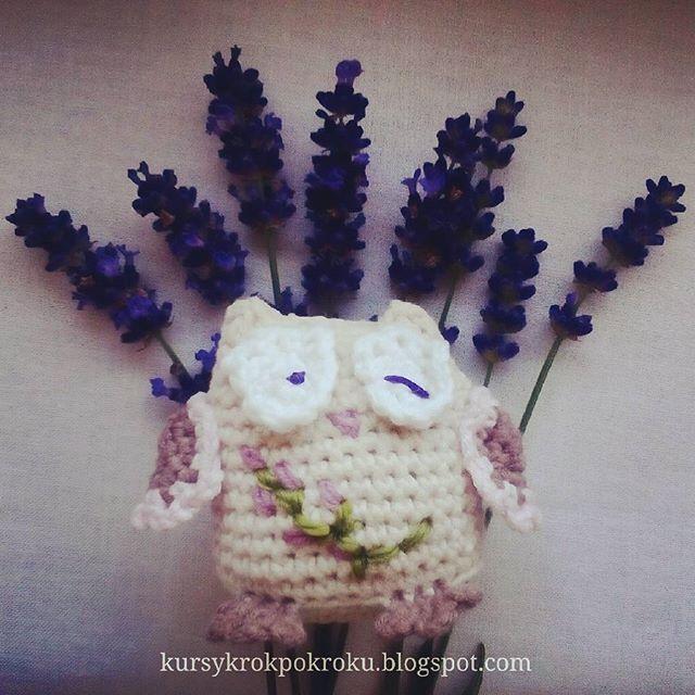 No i włóczki doczekały się pierwszych  amigurumi - lawendowe sówki, powstały dwie. Duża dla starszej córki a mała dla młodszej 💝#amigurumi #sowa #sówka #crochet #instacrochet #szydełko #handmade #craft #rękodzieło #kursy_rekodzielo #przytulanka #polskierekodzielo #DIY #DIYhandmade #lawenda #kwiaty #flowers #lavandula #photos #fotografia #upominek #prezent #dzieci #dladzieci