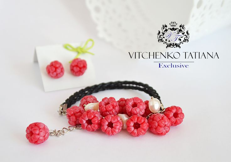 #jewelry # #fashion #style #bracelet # #berry #berries #pearls #flowers #gemstone # #brand #design #exclusive #raspberry #coctail #gift #design