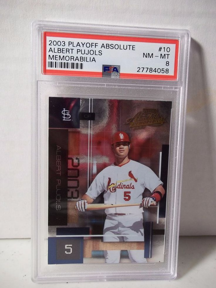 2003 Playoff Absolute Albert Pujols PSA NM-MT 8 Baseball Card #10 MLB  #StLouisCardinals