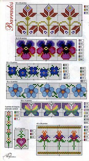 Gallery.ru / Фото #4 - 266 - Yra3raza pansy cross stitch point de croix