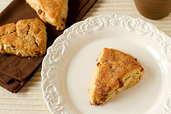 Cinnamon-Sugar Scones  a wonderfully tender texture and a big kick of cinnamon – perfect for a special breakfast treat. When my mom tried these, she said they rivaled the chocolate chip scones. Needless to say, with a lot of cinnamon-lovers clamoring for them, they didn't last long at all.