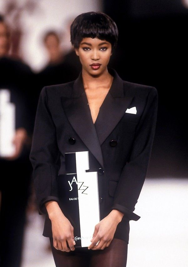Naomi Campbell for Yves Saint Laurent Winter 1988