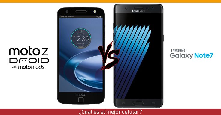 Dos titanes compiten por ser el mejor smartphone del 2016! Ven aquí y enterate cual celular es mejor, Motorola Moto Z Force Droid o el Samsung Galaxy Note 7