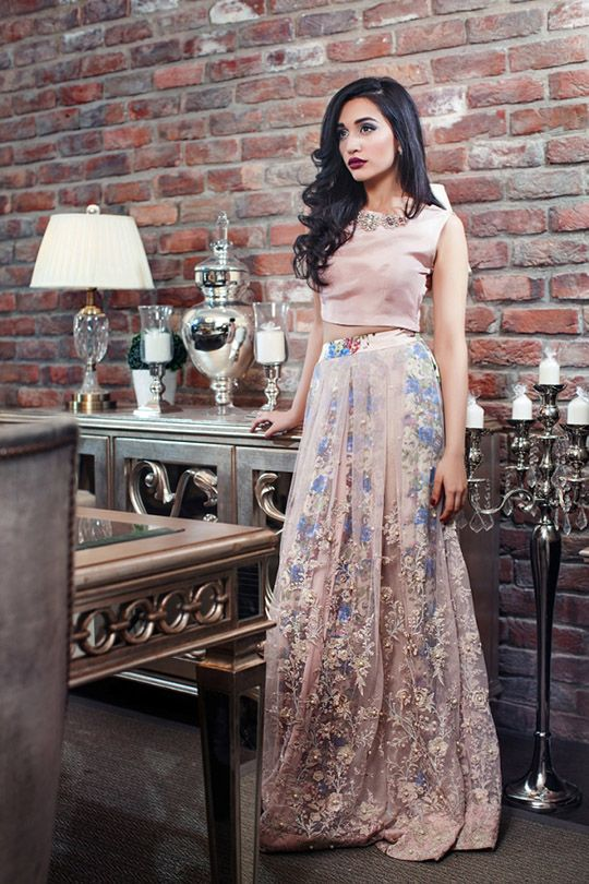 The modern version of traditional ghagra cholis aka ball skirts is a trend that has picked up once again in line with winter holiday season. Completely evening ready and stress free to style the c…
