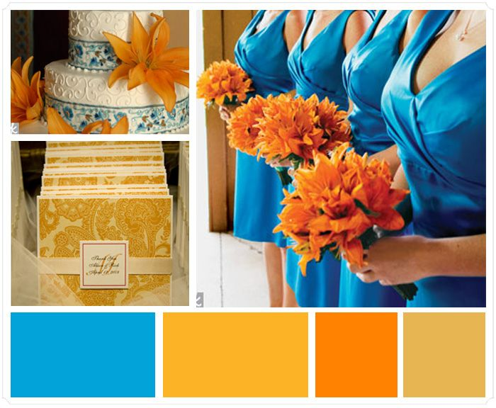 95 best images about Blue and Orange Wedding Colors on Pinterest ...