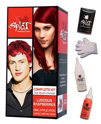 best splat red hair dye colors
