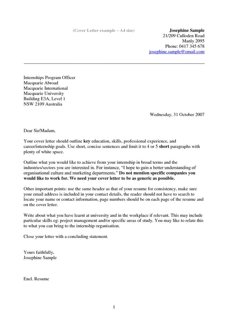 105 best Resume Example images on Pinterest Cover letter for - Email Cover Letter Example