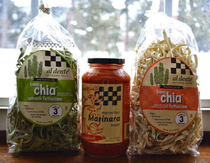 Al Dente Pasta and Sauce- with chia seeds!