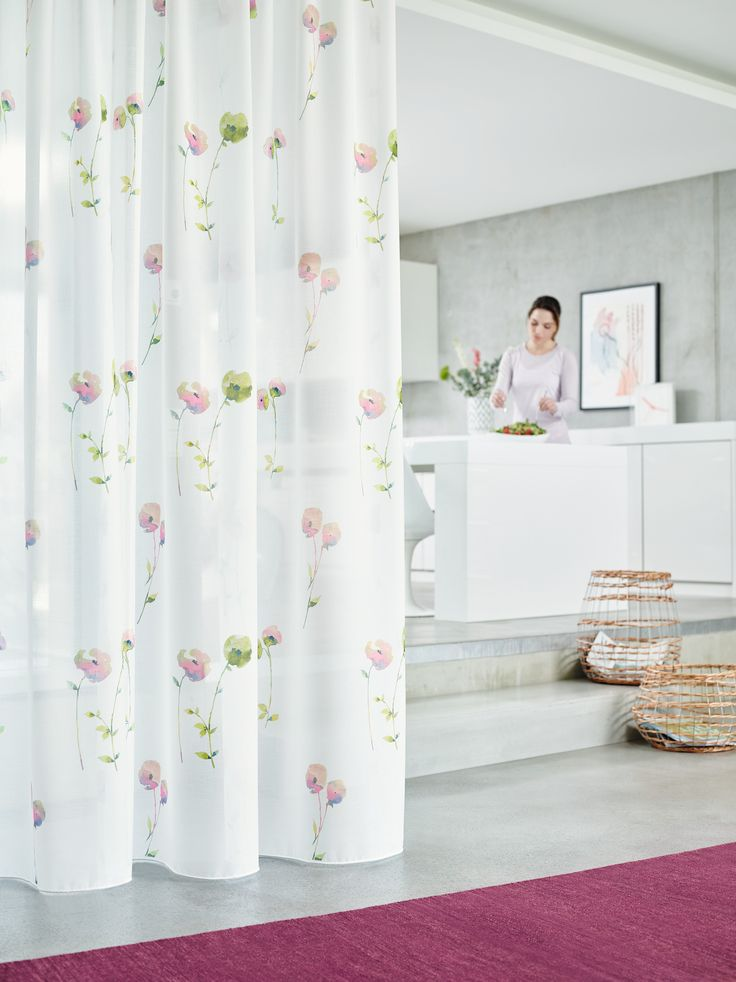 The Abstract Poppies Covering This Beautiful Voile Bloom In A Light And Airy Setting On