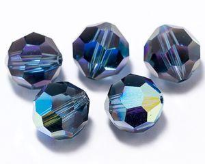 ID4246 - 8mm Montana AB Swarovski® Crystal Round Beads (Article 5000) (1)