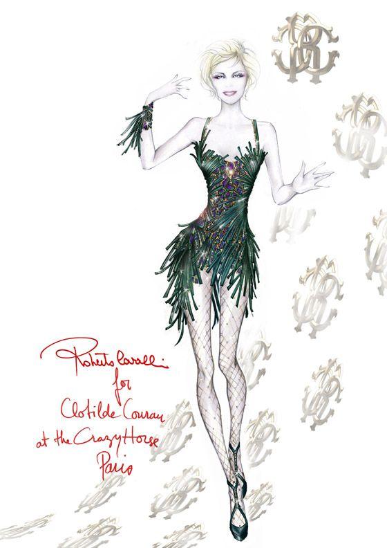 Clotilde Courau, princesse du Crazy Horse Paris par Roberto Cavalli