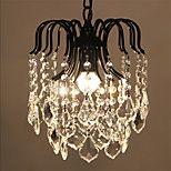 Max 60W Rustikk Krystall / LED / Mini Stil galvanisert Metall Anheng LysStue / Soverom / Spisestue / Leserom/Kontor / Barnerom / Inngang