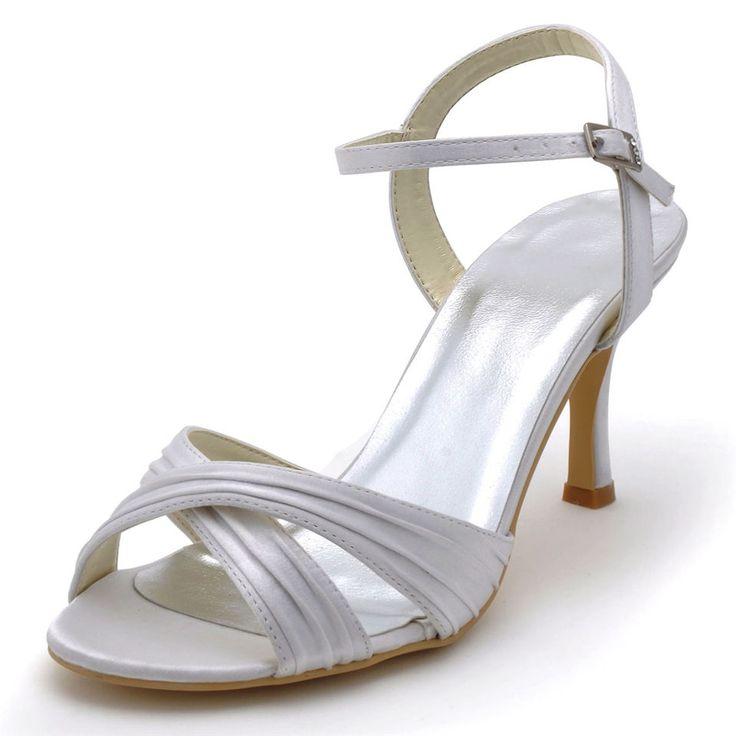 Neue 2017 tacones altos sommer hochzeit absatzschuhe alias gefalteten satin OL brautschuhe sandalen pumpe RR-156 YY //Price: $US $46.25 & FREE Shipping // #dazzup