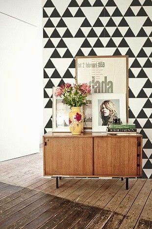El Rincón Vintage de Karmela: Los triángulos se han puesto de moda, tendencia escandinava por excelencia.
