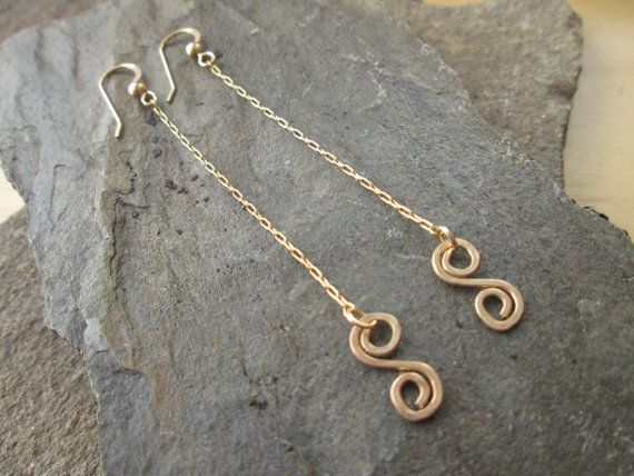 Spiral earrings gold filled  earrings dainty by ScentOfGold, $16.00