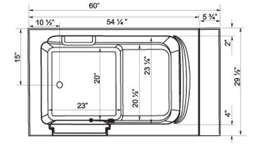 The 25 best bathtub dimensions ideas on pinterest full for Standard bathtub dimensions inches