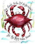 Crab Print (Psalm 131) site with lots of super cute Christian stuff