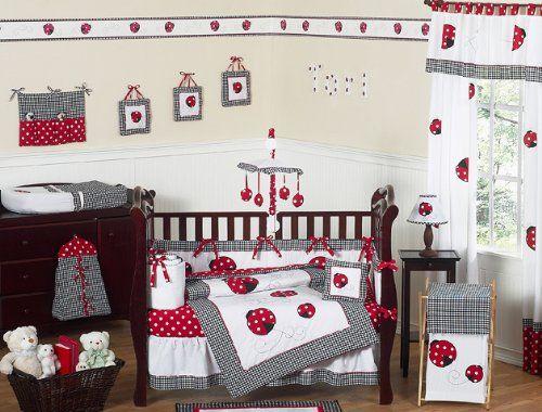 Ladybugs!Polka Dots, Crib Bedding Sets, Cribs Beds, Jojo Design, Ladybugs, Baby Room, Baby Girls, Lady Bugs, Beds Sets