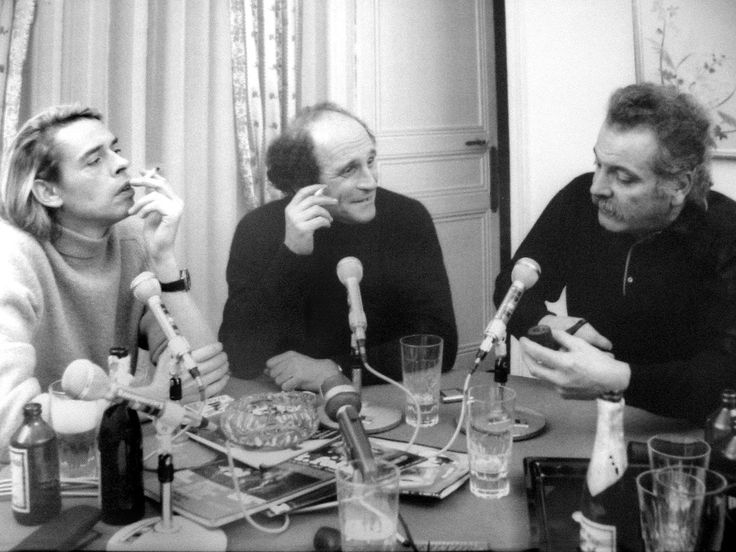 Léo Ferré, Jacques Brel, Georges Brassens Photo: Jean-Pierre Leloir, 6 janvier 1969