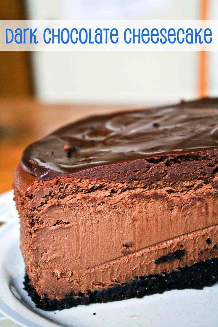 Dark Chocolate Cheesecake {Bunsen Burner Bakery}