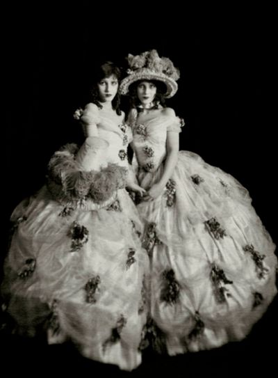 "The Fairbanks Twins - Marion and Madeline  The Fairbanks sisters appeared in ""The Midnight Frolic"" in August, 1920."
