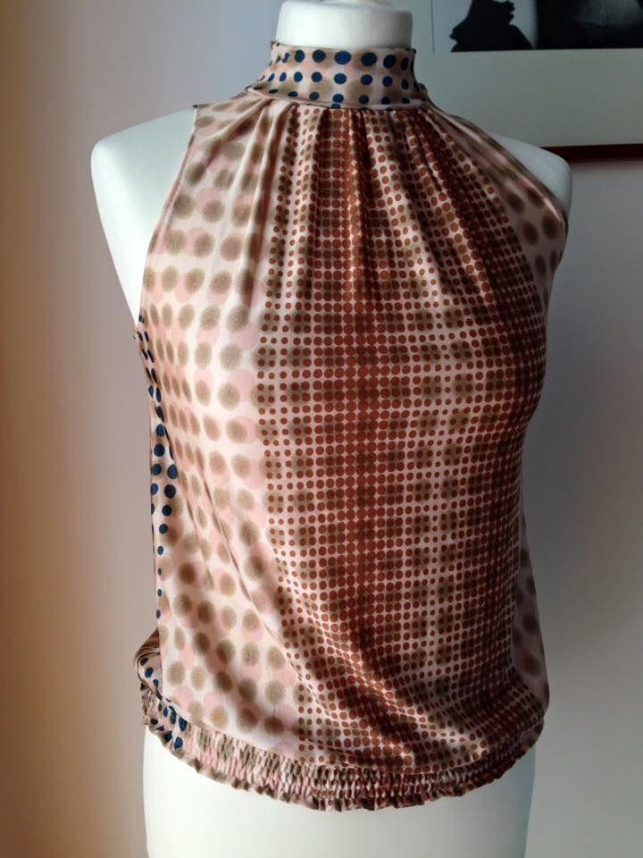 Top collo alto e elastico in vita -  handmade by LoreLà