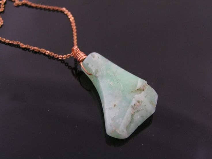 Large Natural Chrysoprase Necklace, Chrysoprase Jewelry, May Birthstone, Birthstone Jewelry, Birthstone Necklace, Gem Necklace, Gem Jewelry by ClassicMinimalist on Etsy